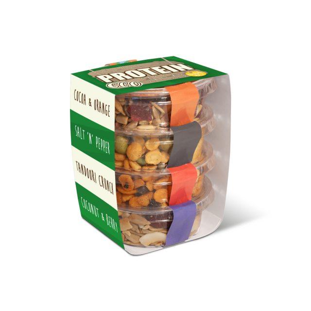 Eco Range – Eco Pot Stackers – Healthy Protein Snacks