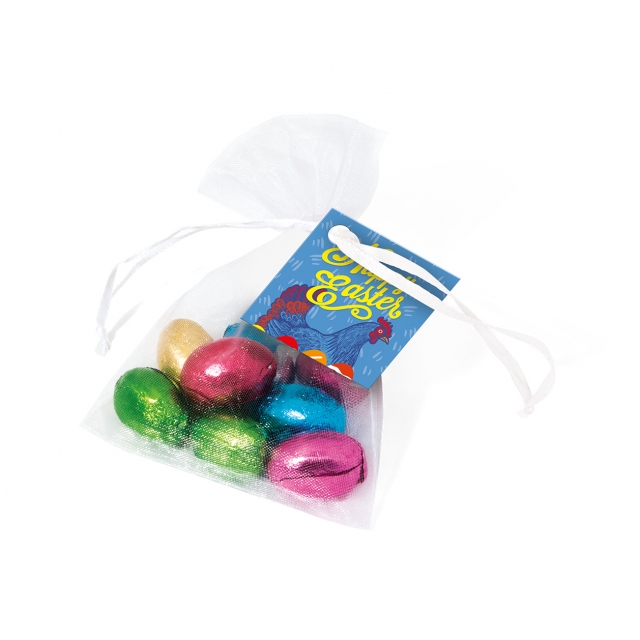 Easter – Organza Bag – Foiled Chocolate Eggs
