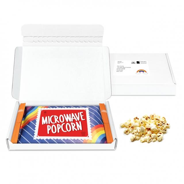 Postal Packs – Midi Postal Box – Microwave Popcorn – Microwave Popcorn DP