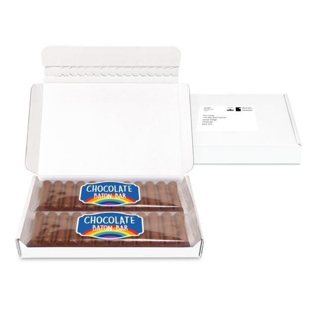 Postal Packs – Midi Postal Box – 12 Baton Bars – PAPER LABEL